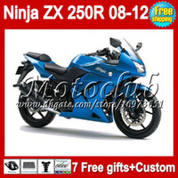 Wholesale 100 NEW Top gifts For KAWASAKI NINJA ALL Blue R ZX250R ZX250 R MC1272 ZX R Fairing