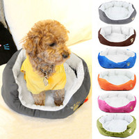 Wholesale Warm Soft Fleece Puppy Pets Dog Cat Bed Nest Mat Basket Cushion House Sofa Free Shipp