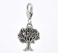 Wholesale Tree Clip On Charms Fit Link Chain Bracelet B12604