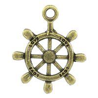 Free Shipping! Charm Pendants Steering Wheel Antique Bronze ...