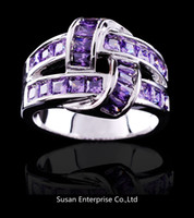 amethyst jewellry - amethyst champagne Topaz pink sapphire jewellry lady s KT white Gold Filled Ring