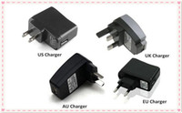Wholesale USB Charger or Wall Charger for Electronic Cigarette E cigarette E cig EGO T EGO Adapter USB Or US UK EU AU Wall Charger Plug