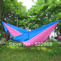 Wholesale 2013 New Arrival Double Parachute Camping Outdoor Double HAMMOCK CM Max Loading KG