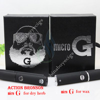 Wholesale Micro G vs Action Bronson micro G pen elecronic cigarette for wax or dry herb vapor cigarettes kits herbal dry herb atomizer vaporizer pen