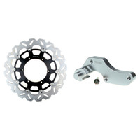 Cheap New High Quality Oversize 320 Front Brake Disc Rotor + Adaptor Bracket For YAMAHA YZ 125 1998 1999 2000 2001 2002 2003 2004 2005 2006 2007