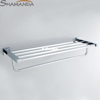 Wholesale Bathroom Accessories Products Solid Brass Made Chrome Finished Double deck Towel Rack Towel Bar Holder