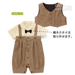 Baby Outfits boys' clothes boys' bow shirts boys' shorts boys' bib pants boys' suits boy's set CL60