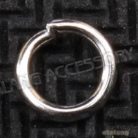 Wholesale New Arrival Iron Sliver plated Open Jump Rings Findings mm