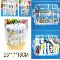 Wholesale Three layer of transparent plastic lattice box CM