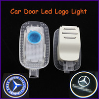 Ghost Light/Welcome Light Wedge front,back Auto body part for Mercedes-Benz, 12V ABS material specific car door led shadow light, logo laser projector light