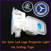 Cheap Auto body part,apply to Mercedes-Benz S-Class specific car door led shadow lights, logo laser projector light