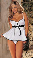 businesscn - Plus Size S M L XL XXL XXXL XXXXL XL XL XL White Lingerie Padded Babydoll Dress Chemise Nightdress Underwear Gown Sleepwear