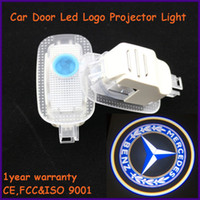 Cheap Auto body parts,apply to Mercedes-Benz S-Class specific car door led shadow lights, logo laser projector light
