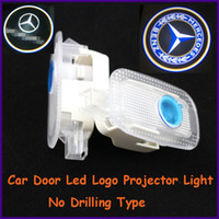 Cheap Auto part dealers, apply to Mercedes-Benz S-Class specific car door led shadow lights, logo laser projector light