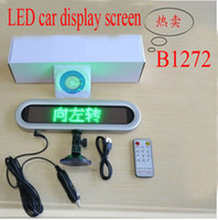 Wholesale B1272 car led message sign screen display electronic scrolling system remote control red color light Warning LED