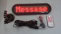 Wholesale Hot sale B741 led remote car message sign screen display electronic scrolling message system amp remote control red color