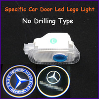 Cheap Auto spare parts,ABS material Mercedes-Benz S-Class specific car door led shadow lights, logo laser projector light