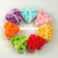 Wholesale bath Valentine s Day gift rose Wedding gifts beauty soap Rose flower soap Flower soap flower box box
