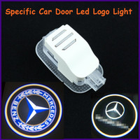 Cheap EXW auto body parts, ABS material Mercedes-Benz specific car door led shadow lights, logo laser projector light