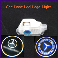 Cheap Auto body part, ABS material Mercedes-Benz specific car door led shadow lights, logo laser projector light