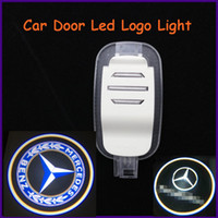 Cheap Auto body part for Mercedes-Benz, ABS material specific car door led shadow lights, logo laser projector light