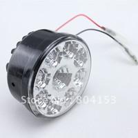 Light Sourcing 12V External Lights Fress shiping 2pcs set White Superflux 9 LED Car Auto DRL Daytime Running Day Driving Fog Light Lamp