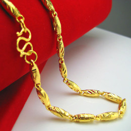 Do not fade like a gold necklace and gold chain 24K gold wedding jewelry fine paragraph lengthen olive
