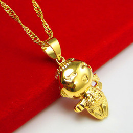 For a long time does not fade and gold plated pendant Gold Necklace Gift Jewelry Pendant wedding lucky baby