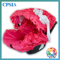Wholesale 3D rosy fluffy infant car seat canopy cover fit most infant car seat girl baby Promotion Gifts Baby girls gifts sets