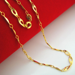 Our jewelry gold chain necklace 999 gold plated gold imitation lady torsion piece new fashion chain clavicle