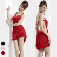 Wholesale Latin dance skirt sexy racerback tassel short skirt child leotard costume adult dancing dress