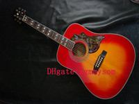 Wholesale Cherry burst bird Acoustic Electric Guitars amp Acoustic Guitar OEM Available
