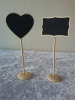 Cheap Mixed Shapes 50 x MINI CHALKBOARD BLACKBOARDS ON STICK STAND PLACE HOLDER BRAND-NEW | WEDDING Party Decorations Free Shipping