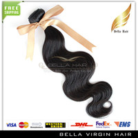 Wholesale 10 off Brazilian Peruvain European Malaysian Cambodian Indian Virgin Remy Hair Extensions quot quot Body Wave Human Hair Weft Natural Color