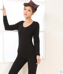 Wholesale All match Double thick with velvet ladies seamless body shaping underwear suits of cotton print
