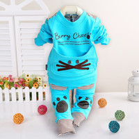 sweat suits - 9pc baby suits children clothes spring autumn outer hoody cotton T shirt pants toddler sweat suits