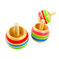 Wholesale 15pcs set Spinning Top Wooden Toys Outdoor Fun amp Sports New Best Selling