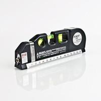 measuring tape - 6 quot Laser Spirit Level with Measure Tape Foot Cross level Laser Measuring Tools Black H1669