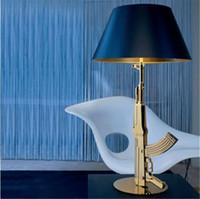 Wholesale Modern FLOS AK47 Chrome Gold Gun Table Lamps Desk Light Read Light Super Lighting New Arrival
