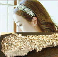 Wholesale Shining crystal mesh yarn hair band bride hair bride with full diamond headdress hair band