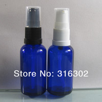 Personal Care lotion containers - DHL ml Blue essential oil container with lotion pump cosmetic bottle ml blue glass bottle