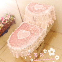 Cheap Toilet seat cover toilet cushion cover thickening toilet set potty pad lace dust cover