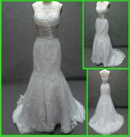Wholesale New satin sexy Amazing Strapless Floor Length Chapel Trumpet Mermaid Wedding Dresses MD3268