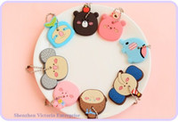 Wholesale 40PCS Kawaii Forest Animals Rubber KEY Cover KEY CAP KEY Chain Holder Rubber Key Pendant Hook Key Cap Case Key Coat Key Holder