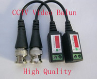 Wholesale 100pcs FEDEX DHL SHIP Camera CCTV BNC CAT5 Video Balun Transceiver Cable with packing
