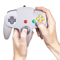 Wholesale S5Q New White Fashion Wired PC Game Controller For Nintendo N64 System Gift AAAATN