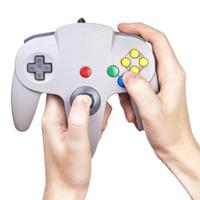 Precio de Pc shock del sistema-S5Q nueva moda blanca con cable controlador del juego de la PC para Nintendo 64 N64 Regalo del sistema AAAATN