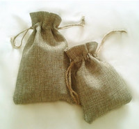 Wholesale Cotton and linen Bags Pouches With Drawstrings Jewelry Crystal bags Gift Candy Bags Thick Packaging No Logo