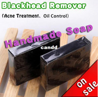 Wholesale Bamboo Charcoal Handmade Soap Blackhead Remover REMOVE BODY ODOR Tearing Style Deep Cleansing Acne Treatment