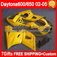Comression Mold For Triumph other 7gifts For ALL yellow Triumph Daytona 650 02-05 2002 2003 2004 2005 5#83 Daytona 600 Factory yellow Daytona650 650 02 03 04 05 Fairings